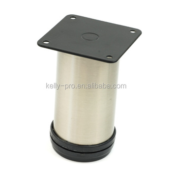 Sofa Leg, Metal Chair Feet Round Tube With Square Mounting Plate