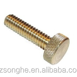 custom made knurled brass thumb screw m3 m4