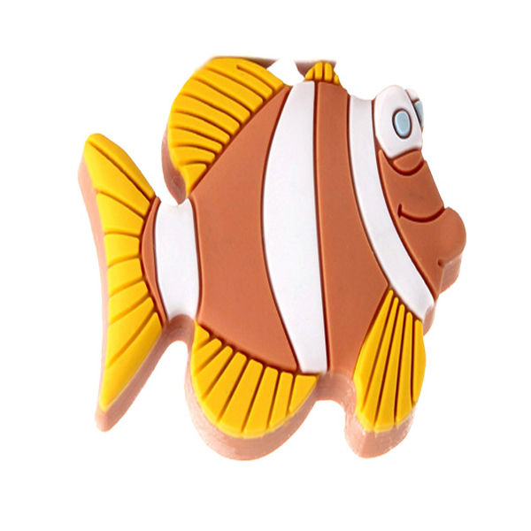 Gold Fish Carton Colorful Furniture Knob for Kids