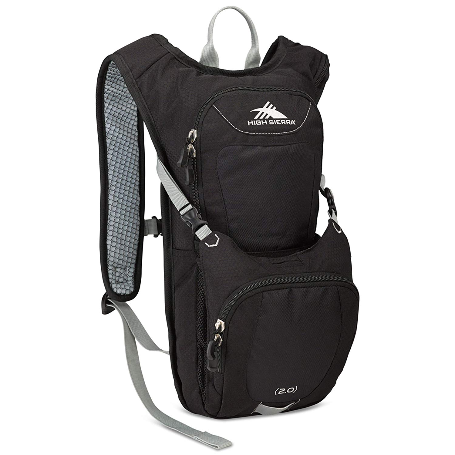 High Sierra Quickshot 70 Hydration Pack Black/Black/Silver