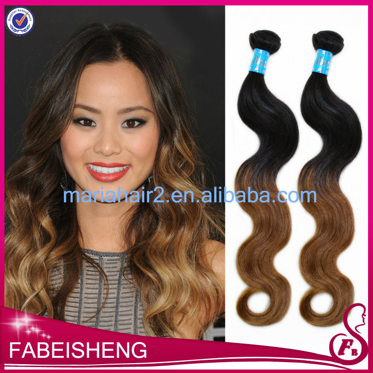 Ombre Hair Extension Weave 2014 Burgundy Highlights On Dark Brown