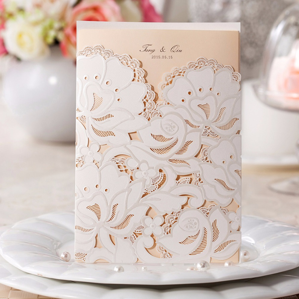 Floral Wedding Card Manufacturer From Hosur: Aliexpress.com : Buy Wedding Invitations Customize Inner