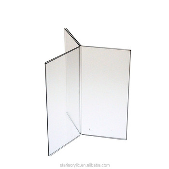 Clear Acrylic Six-Side Table Tent 4u0026quot;w x 6u0026quot;h Panels Menu Holder  sc 1 st  Alibaba & Clear Acrylic Six-side Table Tent 4