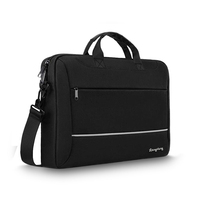 Business portable carrying briefcase computer shoulder bag black durable synthetic nylon polyester waterproof trolley laptop bag