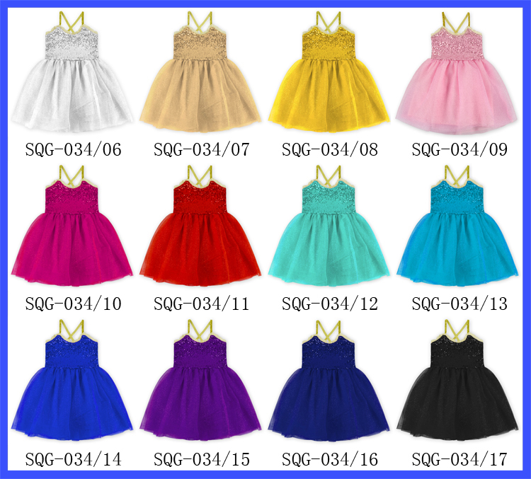 Sequins Sleeveless Party Dress Exquisite Cute Dress for 18 Inch Girl Dolls Blue