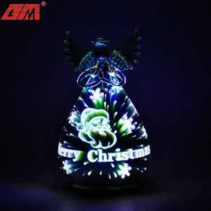 Wholesale handmade led lighted glass angel table decoration