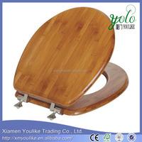 Solid Bamboo Veneer Round Toilet Seat