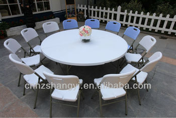 5 Foot Al Foldable Plastic Round Tables Folding And Chairs Table Restaurant Tops Product On