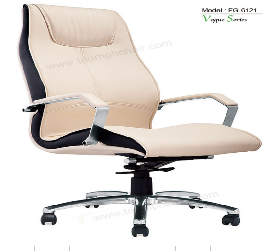 Triumph Modern office chair wheel base / high back mesh design PU desk chair /office chairs and tables set browm color