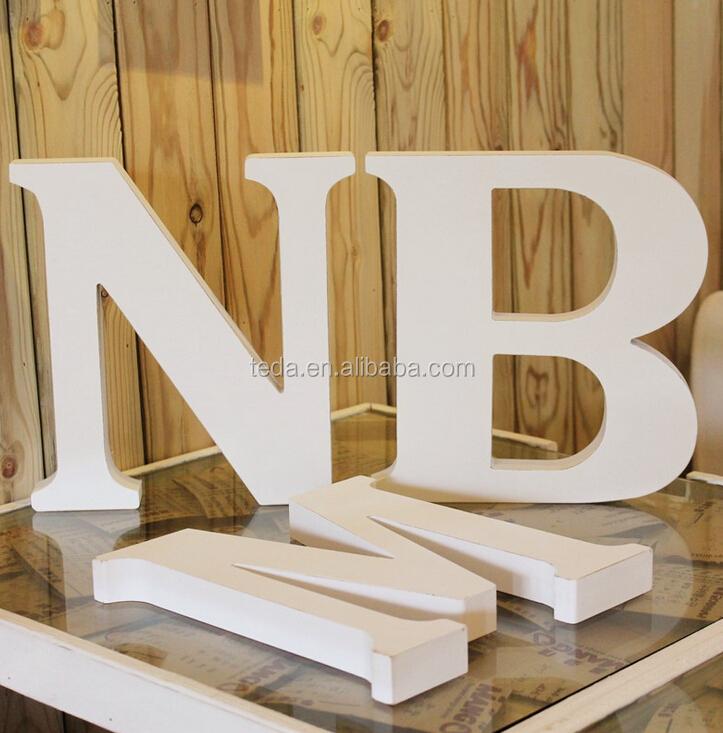 blanco colgando decorativo letras de madera para nios vivero y la habitacin del beb