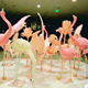 plush feathers crafts custom pink flamingo garden ornaments