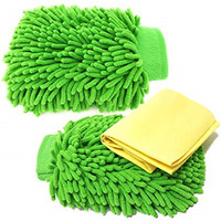 High Density Microfiber Glove Chenille Mitt for Car cleaning