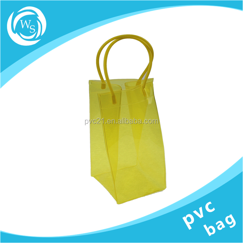 Wholesale custom tote pvc wine ice cooler bag with handle