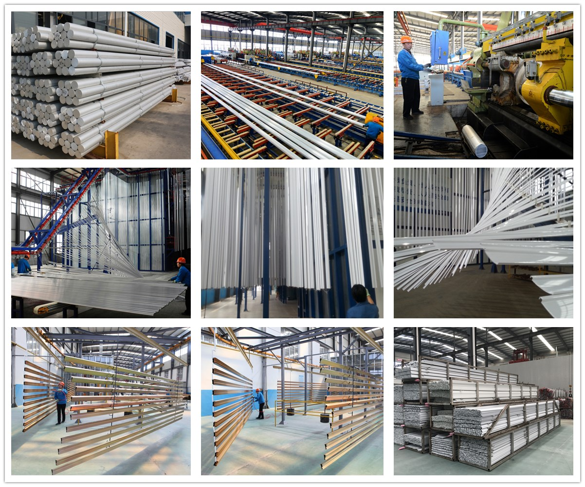 Silver and White Extrusion Alloy Window Frame Aluminum