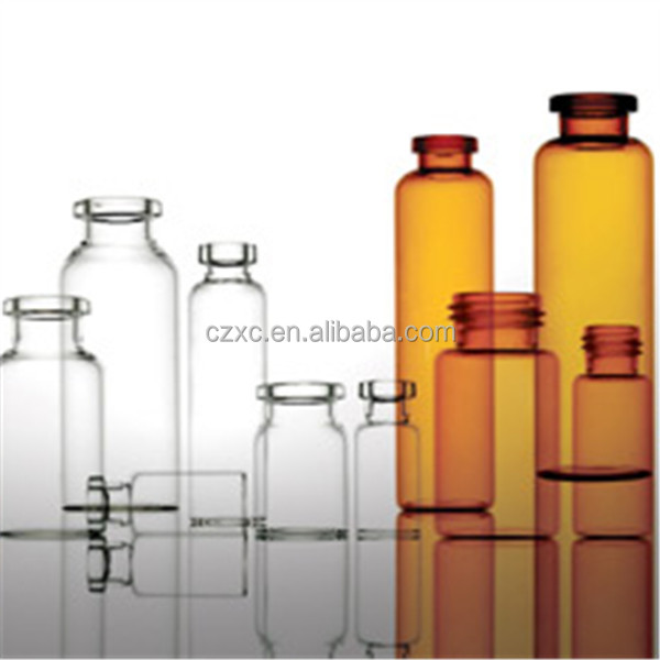 Amber/clear glass bottle for pharmaceutical oral liquid vials