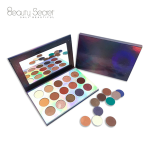26mm Private label cosmetics makeup 18 color glitter eye shadow palette with mineral ingredients