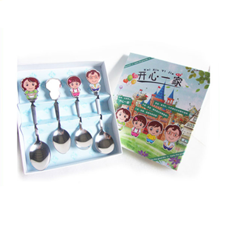 Happy family stainless steel big round spoon