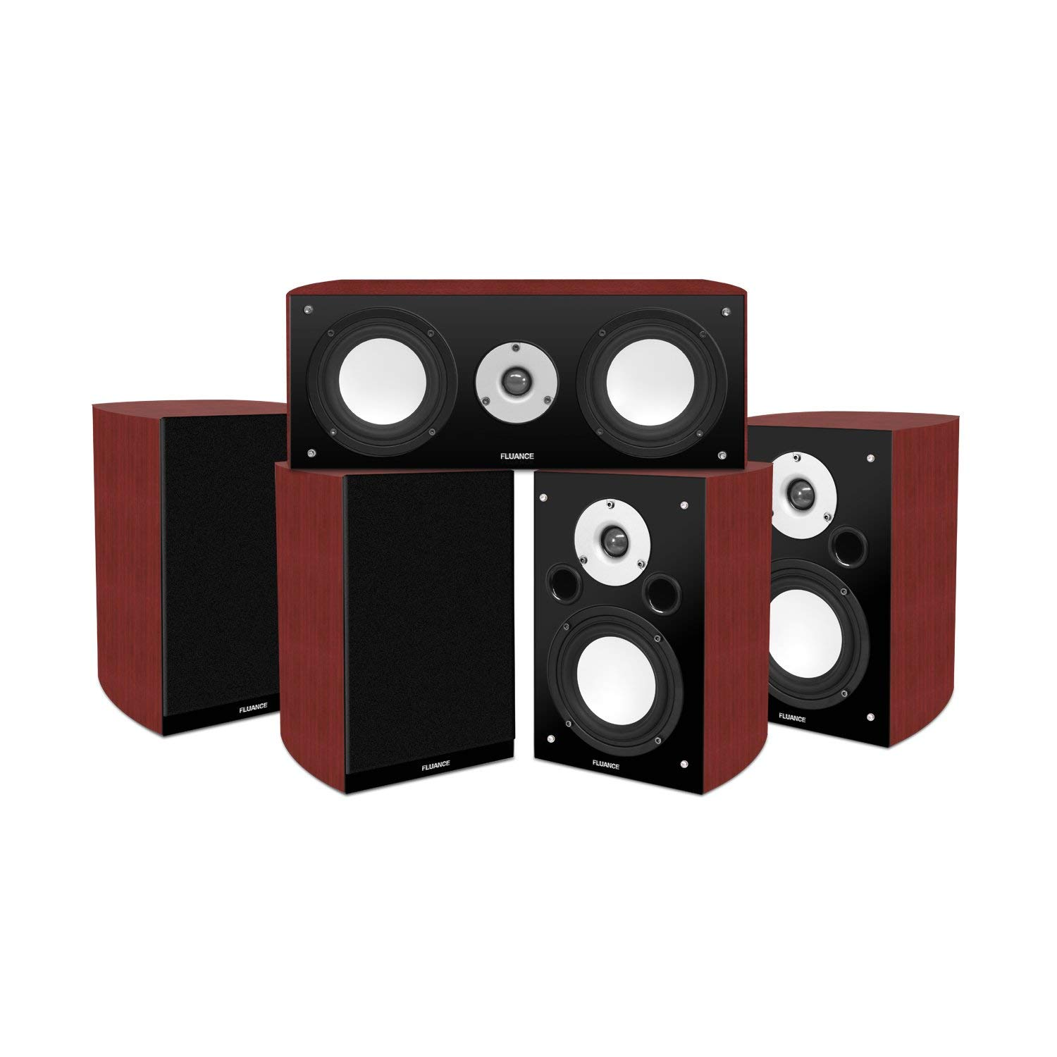 Fluance Reference Series High Performance 5.0 Surround Sound Home Theater Speaker System