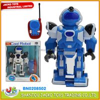 2015 new product plastic kids toy robot RC robot walking robot with light and music