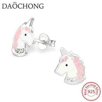 e4983037b13e 925 Esmalte Unicorn Stud Pendientes Para Niñas - Buy Pendientes De ...