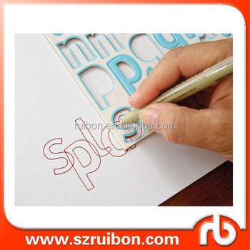 Paper Stencil Alphabet Letter Template For Scrapbook Drawing