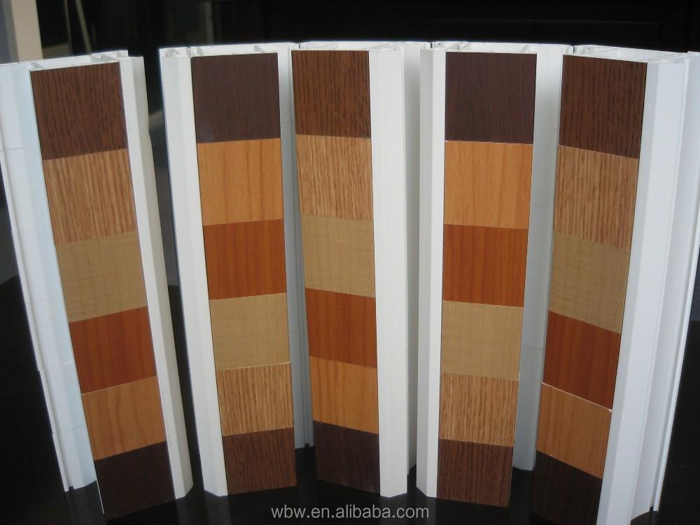 Color de madera pvc ventana deslizante buena calidad for Ventanas pvc color madera