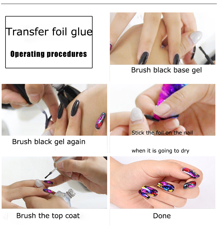 Diy Design Colorful Laser Paper Rolls Wraps Nail Art Transfer Foil ...