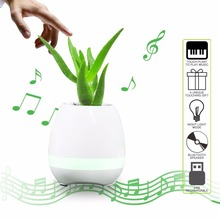 2017 new arrival flowerpot touch music bluetooth speaker is music flower pot