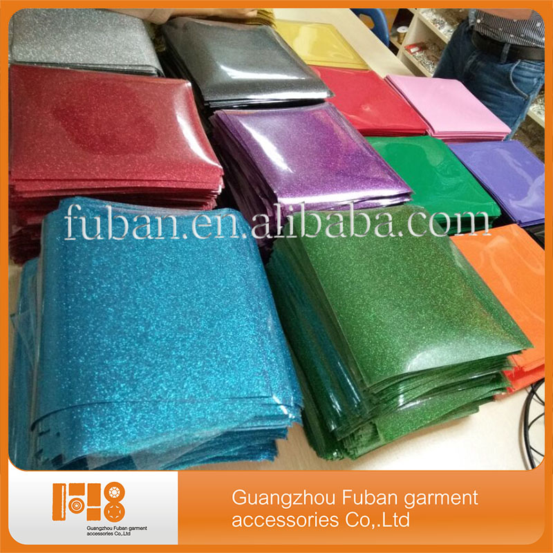 High quality cheap glitter transfer film vinyl Heat transfer for clothing