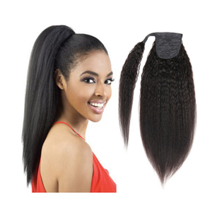 Factory wholesale afro kinky hair ponytail drawstring ponytail for black women