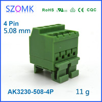 pluggable copper straight needle terminal block connector for electroncis pcb male and female