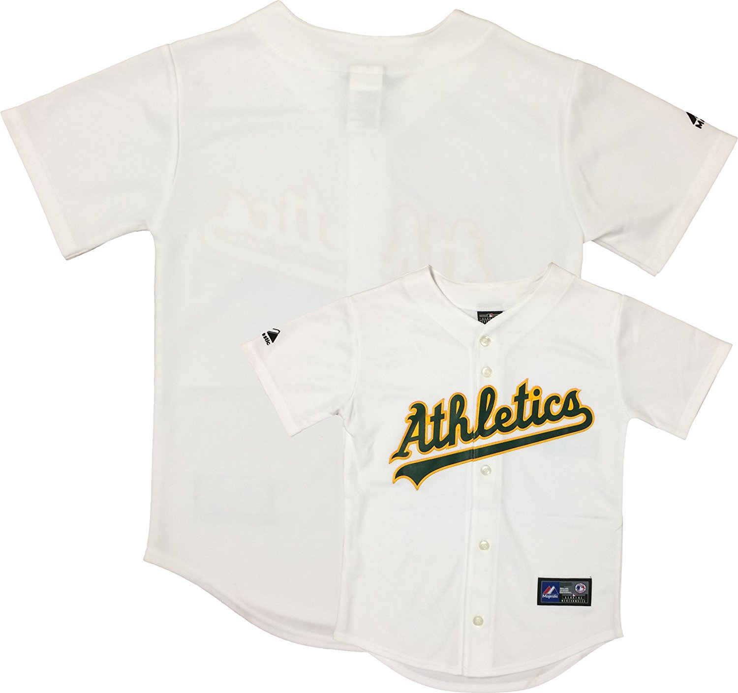 Get Quotations · Oakland Athletics Word Mark White Kids Authentic Home  Replica Jersey ddee890a5