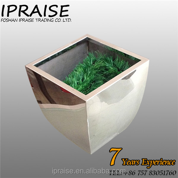 304 Stainless Steel Laser Hollow Flat Flower Vase Pots