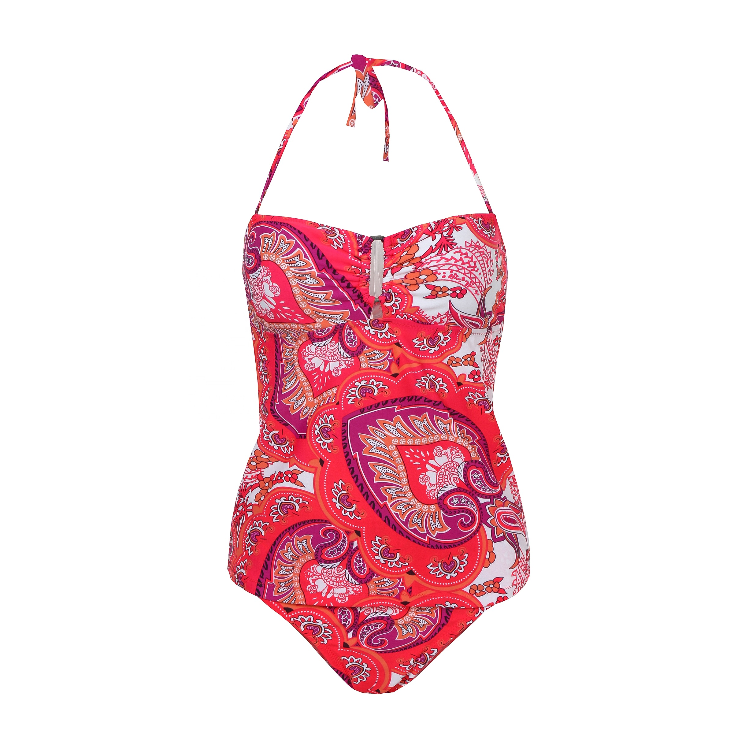 New Style in stock Hot selling ladies print bikini swimwear with halter bathing swimsuit two pieces bikini set