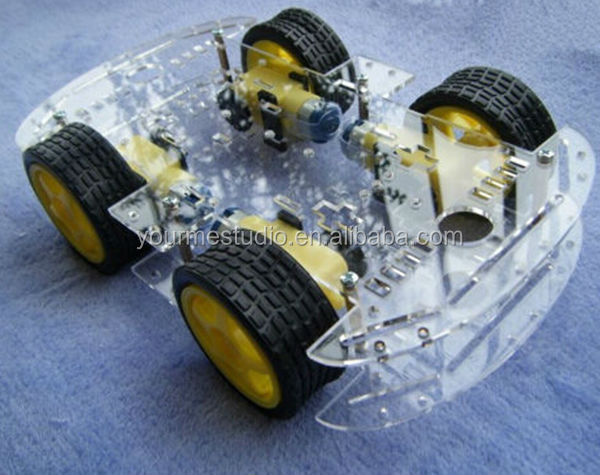 Wholesales DC Power Chronological Belt Encoder 4 Driver Wheeled Mini Smart Robot Car Chassis