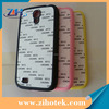 TPU Rubber sublimation cases for Samsung S4 (i9500) with aluminum insert