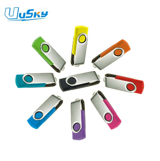 Swivel pen drive USB 2.0 custom logo 1GB 2Gb 4 GB usb flash drive, usb stick housing for coopration gift