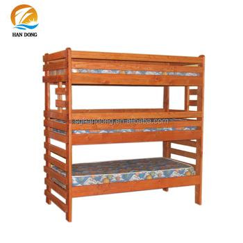 Rustic 3 In 1 Bunk Beds 3 Tier High Narrow Wood Bed Buy 3 Tier