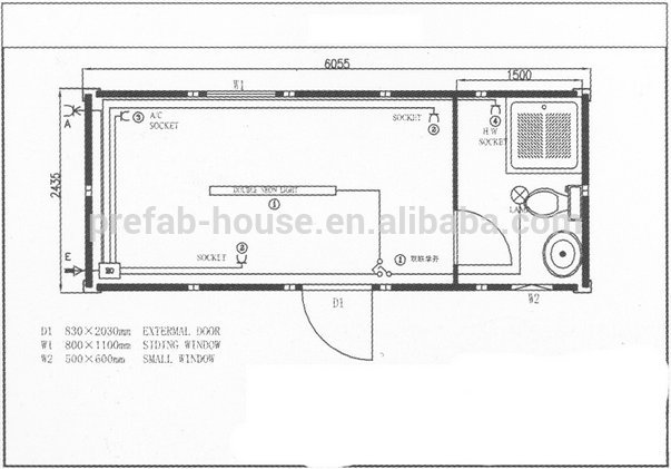 Fast Installation Prefab Mobile Container Home Chassis