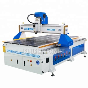 Hot selling !! Blue Elephant 4x8 ft CNC Router , Wood Cnc Router 3 Axis with Italy HSD Spindle