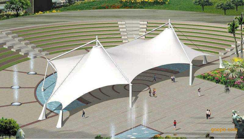 Tensile Fabric Membrane Structure For Landscape