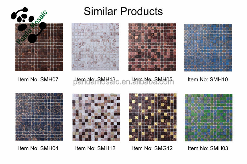 High Quality Square Corner China Pool Tile Prices Factory Brown Gl Mosaic For Floor Tiles