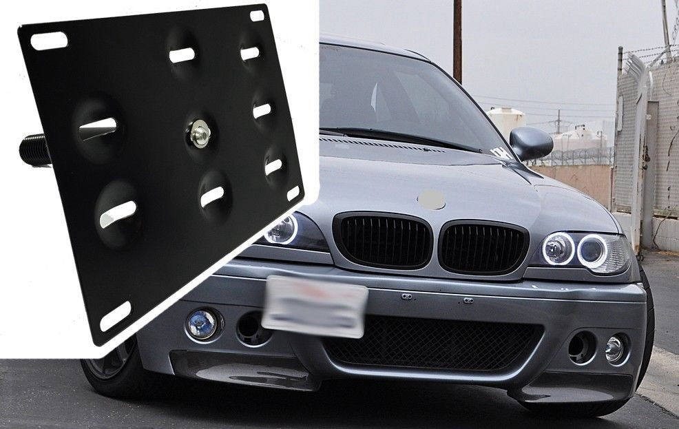 Kylin Racing Number Plate Holder Tow Hook Mounting Bracket Car Number License Plate Frame For H & Kylin Racing Number Plate Holder Tow Hook Mounting Bracket Car ...