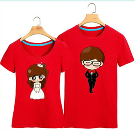 Cute Couple T Shirt Design Chinese Clothing