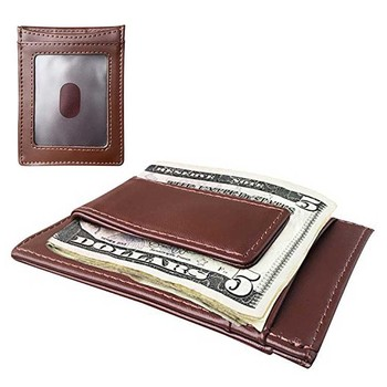 789daff4a1b31 Custom Mens Front Pocket Genuine Leather Minimalist Vintage Magnetic Money  Clip ID Credit Card Holder Slim