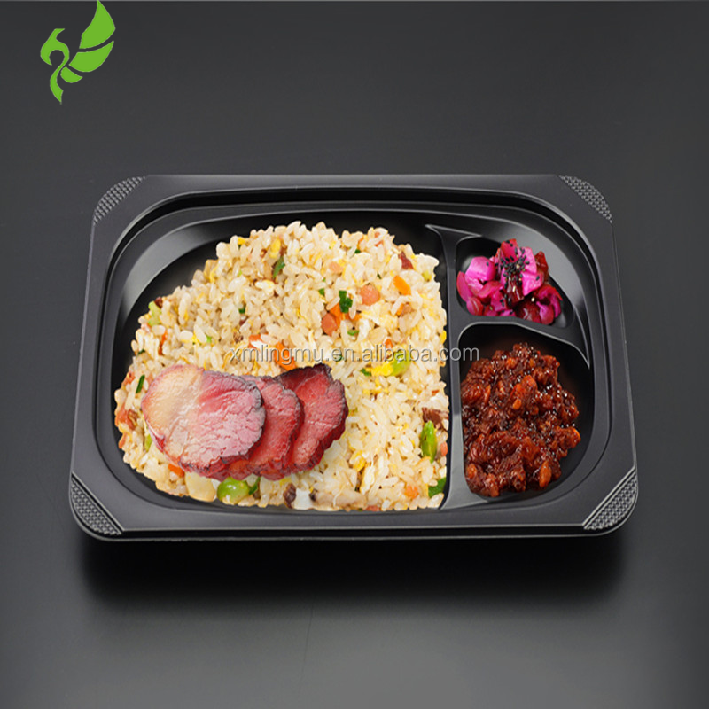 Wholesale Custom Logo Printed Disposable Fast Food Lunch Plastic Packaging Box
