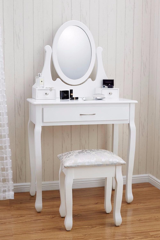Goedkope Vanity Moderne Meisje Wit Hout Eenvoudige Kaptafel Met Lade Buy Hoge Kwaliteit