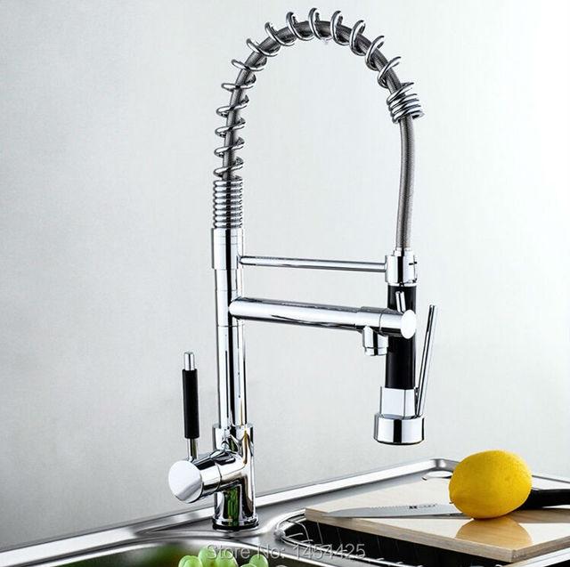 levier unique robinet de cuisine pull out bec navire vier. Black Bedroom Furniture Sets. Home Design Ideas