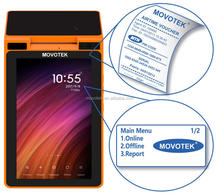 Movotek Low Cost Handheld Android Payment Terminal with Printer, QR Code and NFC