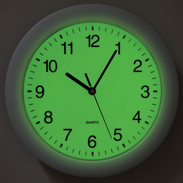 Light Sensor Wall Clock Round Clock Luminous Clock View